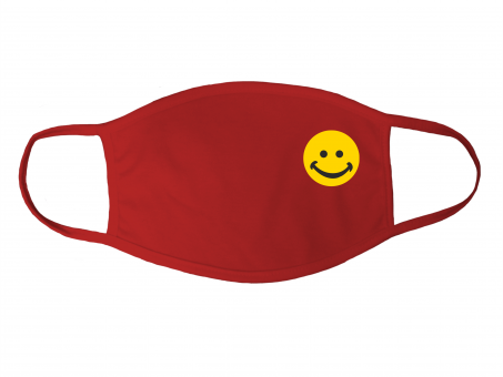 Gesichtsmaske rot