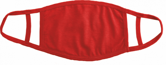 Maske mit doppelter Ohrenschlaufe rot
