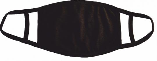 Maske mit doppelter Ohrenschlaufe schwarz